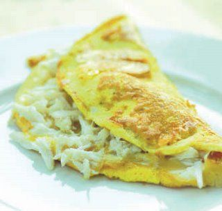 Crabmeat Omelet. Crab makes anything better!