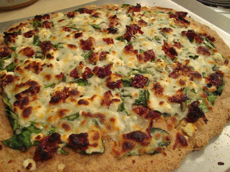 Mediterranean Pizza (with Whole Wheat Pizza Dough) | Recipe