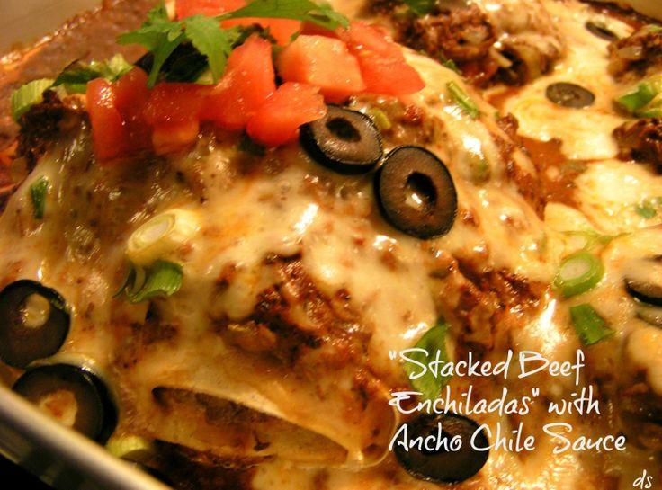 Stacked enchiladas | Yummy for the Tummy | Pinterest