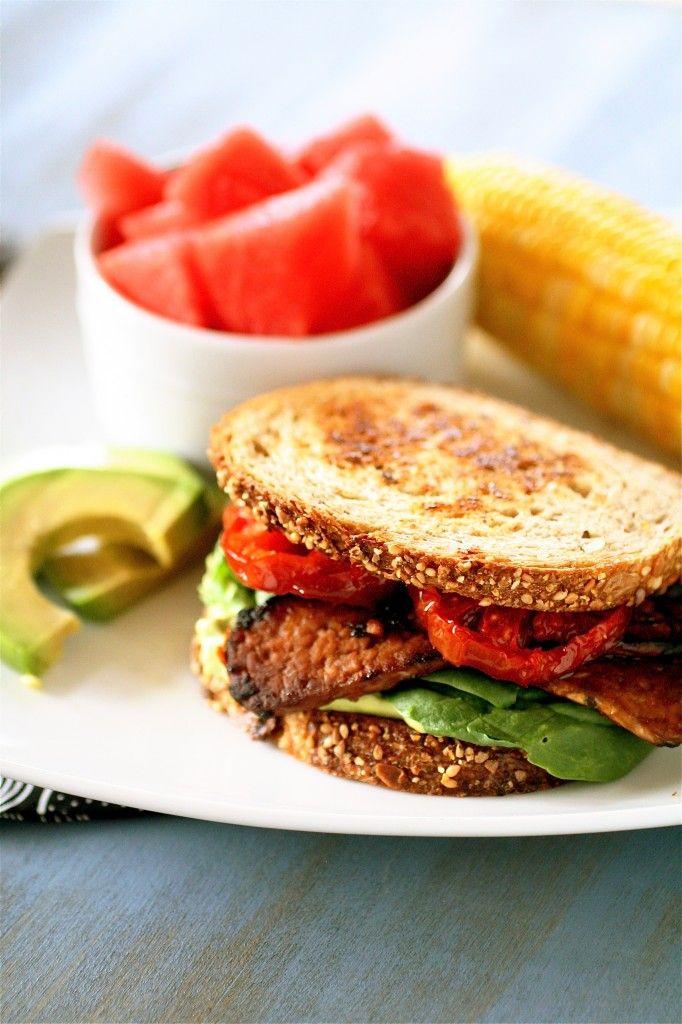 Vegetarian BLTs Um yum! @Renee-Nima Kia Tempeh as the bacon. I'd eat ...