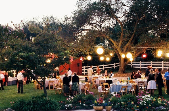 Back Yard Wedding Reception Ideas