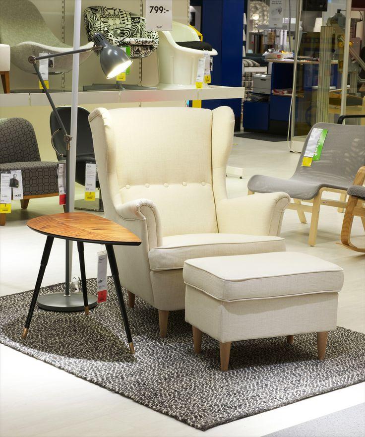 ikea ohrensessel strandmon beige. Black Bedroom Furniture Sets. Home Design Ideas