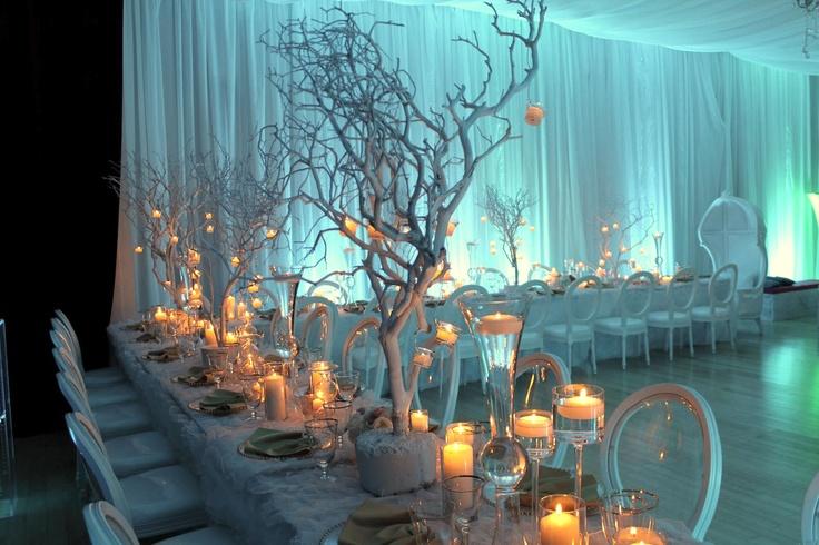 hermosa decoracion de invierno.