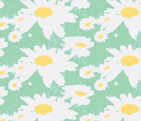 daisies fabric by taragreen on Spoonflower - custom fabric