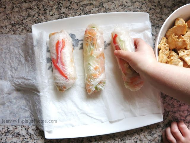 Sweet Chilli, Ginger & Lemongrass Chicken Stir Fry Rice Paper Rolls ...