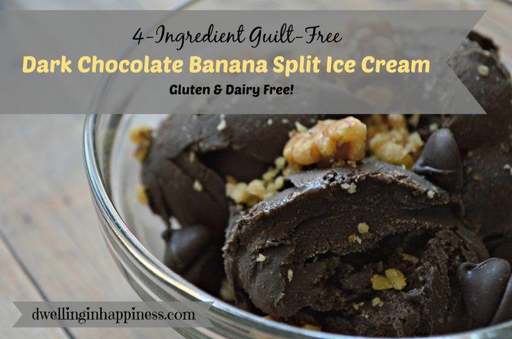Ingredient Guilt-Free Dark Chocolate Banana Split Ice Cream ...