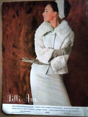1963 LILLI ANN Women's Fashion Clothing Suit Ad | eBay