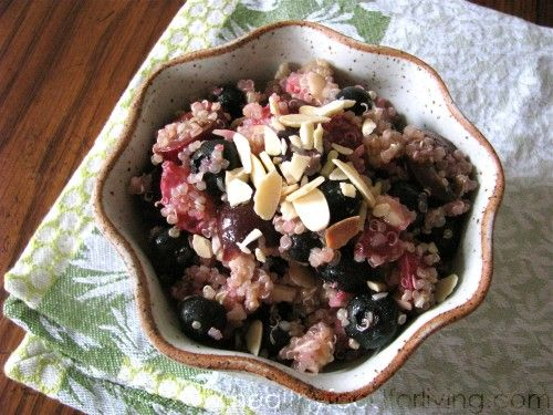High Protein Quinoa Almond Berry Salad from Oh She Glows, Sweet, juicy ...
