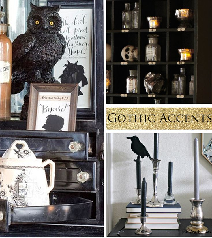 Gothic decor accents halloween pinterest Gothic home decor
