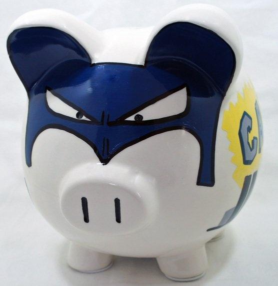 Superhero piggy bank