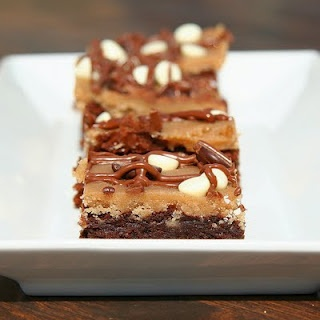 Cookie Dough Topped Brownies | Love for Cookie Dough! | Pinterest