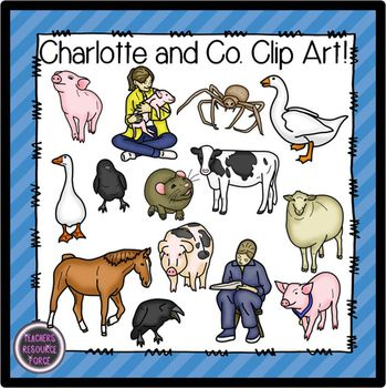 Clip Art Charlotte and co state fair animals clip art (color and black ...