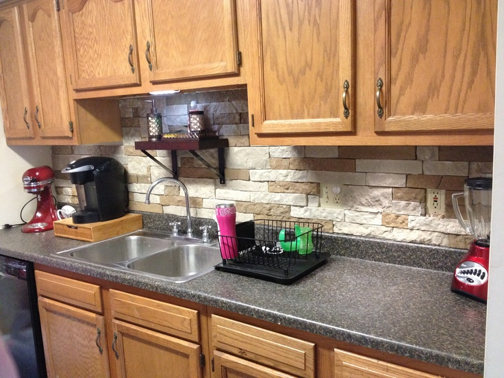 this is an airstone backsplash super easy and you can drill through