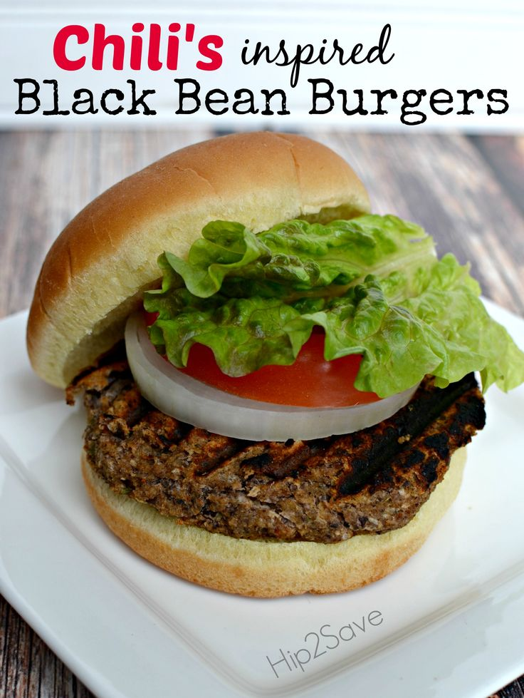 Chili's Inspired Black Bean Burgers by Hip2Save (It's Not Your ...