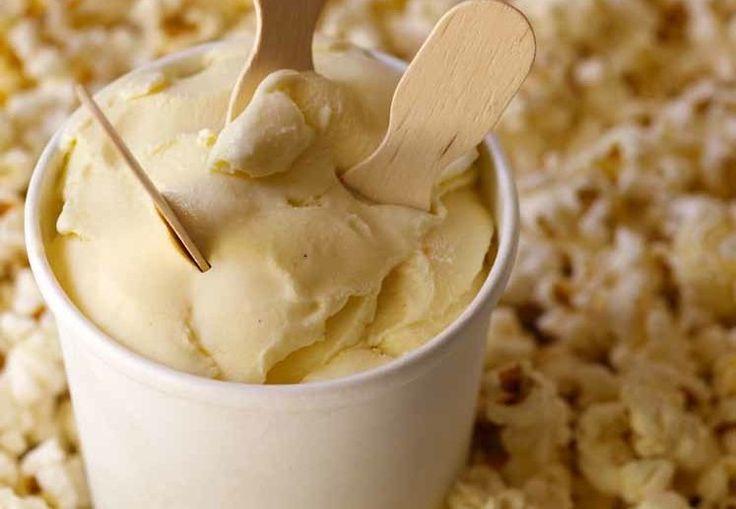 ... ice cream but not popcorn - this sounds good! heavy cream, whole milk