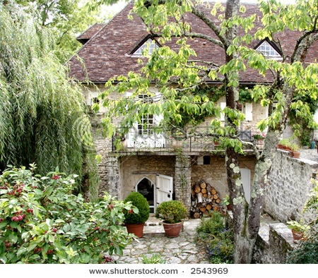 French garden patio pinterest - French style gardens ...