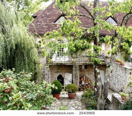 French garden patio pinterest - French style gardens ...