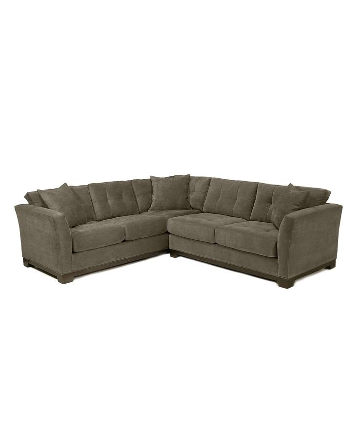 elliot fabric microfiber 2 piece sectional sofa With elliot sectional sofa macy s