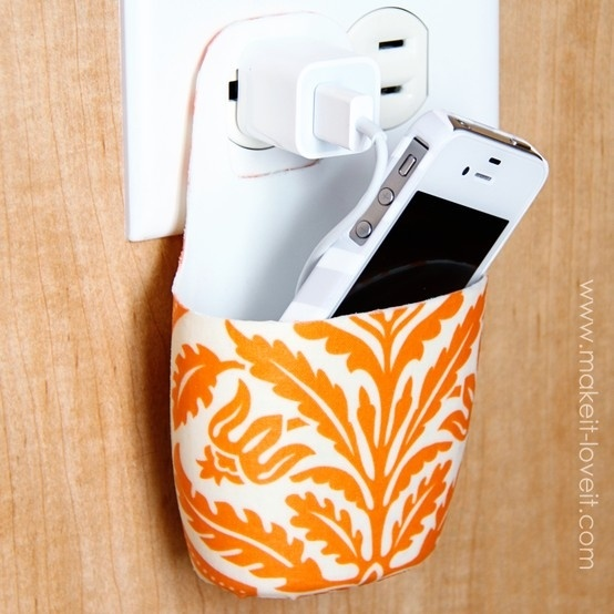 Holder for charging cell phone diy and crafts pinterest Charger cord organizer diy