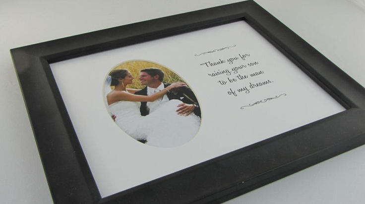 Thank You For Raising Your Son  8 x 10 Picture Frame Photo Mat Design M55. $10.00, via Etsy. - i like this much better than the handkerchief