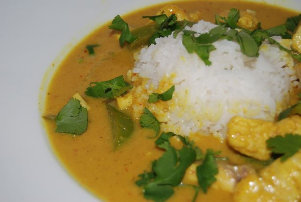 This Thai Yellow Curry with Fish recipe is perfect this time of year