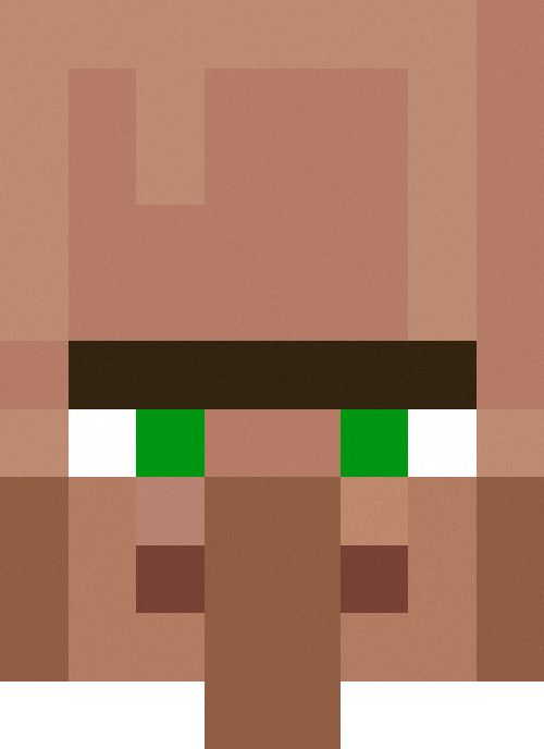 Minecraft Villager Head Costume minecraft villagers fa...