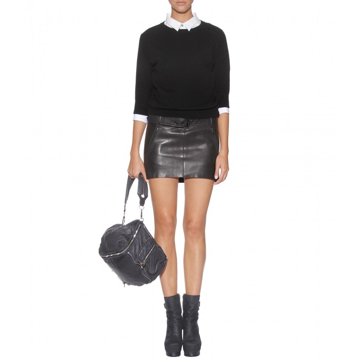 acne belted micro mini leather skirt leather mini skirts