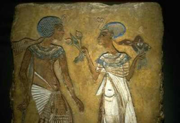 Anceint egyptian wall painting kemet ancient egypt for Ancient egyptian mural paintings