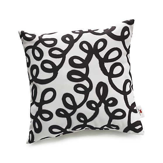 "Party Squiggle 20"" sq. Outdoor Pillow in Paola Navone Party 