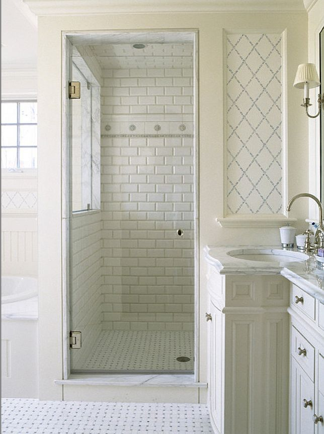 White Subway Tile Bathroom Ideas Dog Breeds Picture