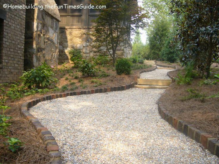 Landscaping Rock Walkways : River rock walkway landscape