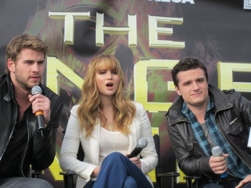 What their faces are saying:    Liam: Eh. *grunt*    Jen: *gasp*    Josh: I'm sexy and I know it.