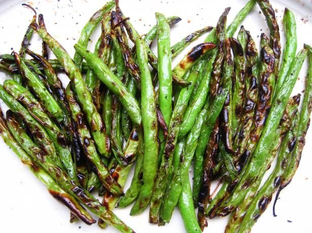 Roasted Green Beans - I put them in a ziplock bag to coat with olive ...
