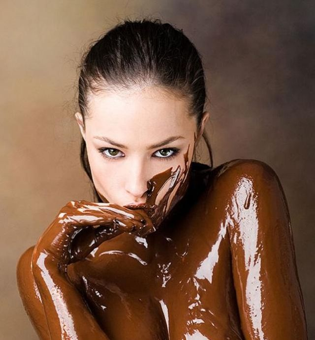 Covered girls chocolate