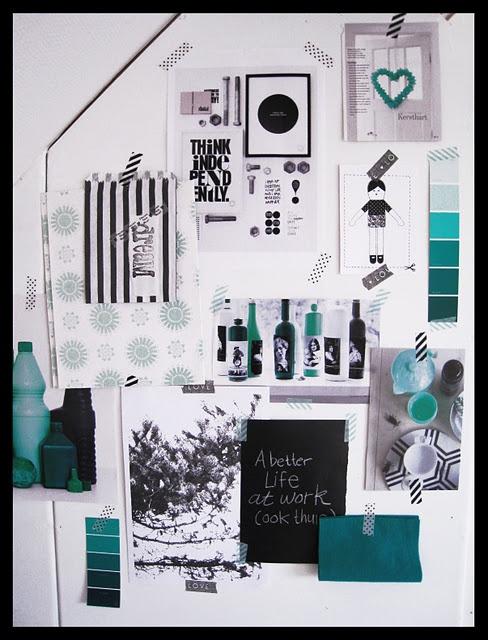 Attic, Green, Mood Board