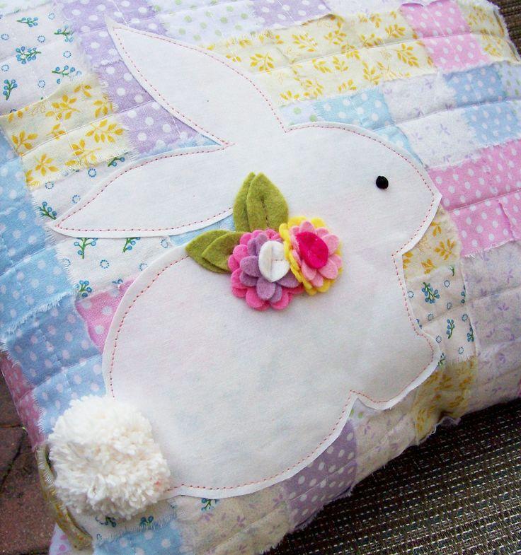 Cute Bunny Pillow : DIY bunny pillow Easter Ideas Pinterest