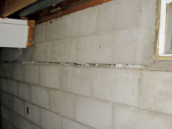 a bowing basement wall foundation crawl space repair