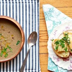 Vegan Cream of Mushroom Soup with Not So Vegan Herb Bread ...
