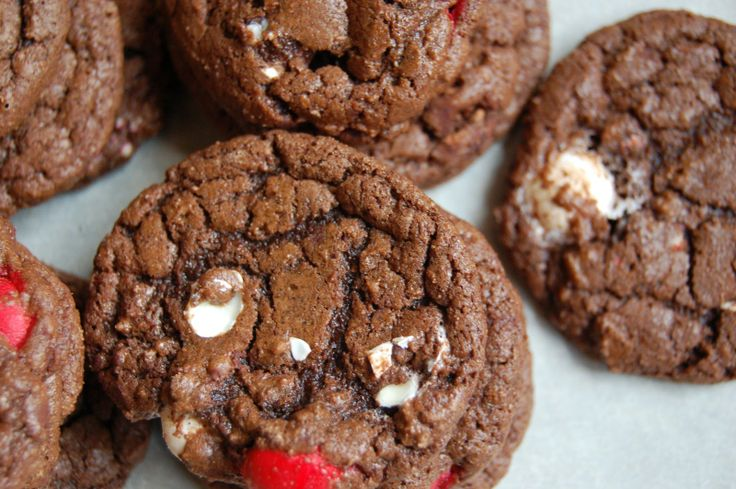 double chocolate cookies with peppermint white chocolate m amp m s