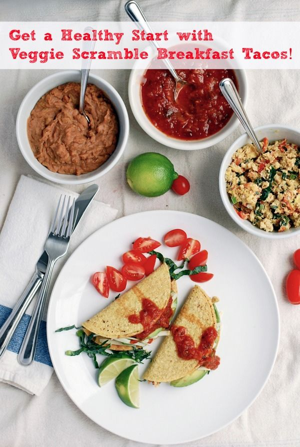 Get a Healthy Start with Veggie Scramble Breakfast Tacos #familyfunnight #sponsored