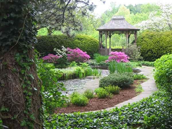 Flower Garden Gazebo : Gazebo at Beautiful Garden  #Flowers and #Gardens  Pinterest
