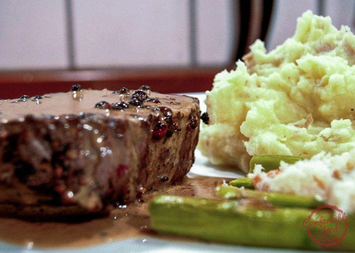 comfortable food - steak au poivre recipe