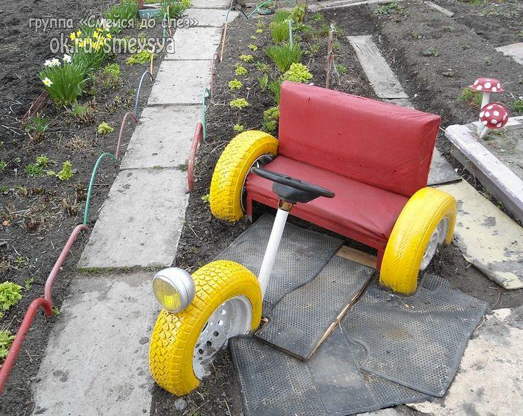 машинка из колес фото