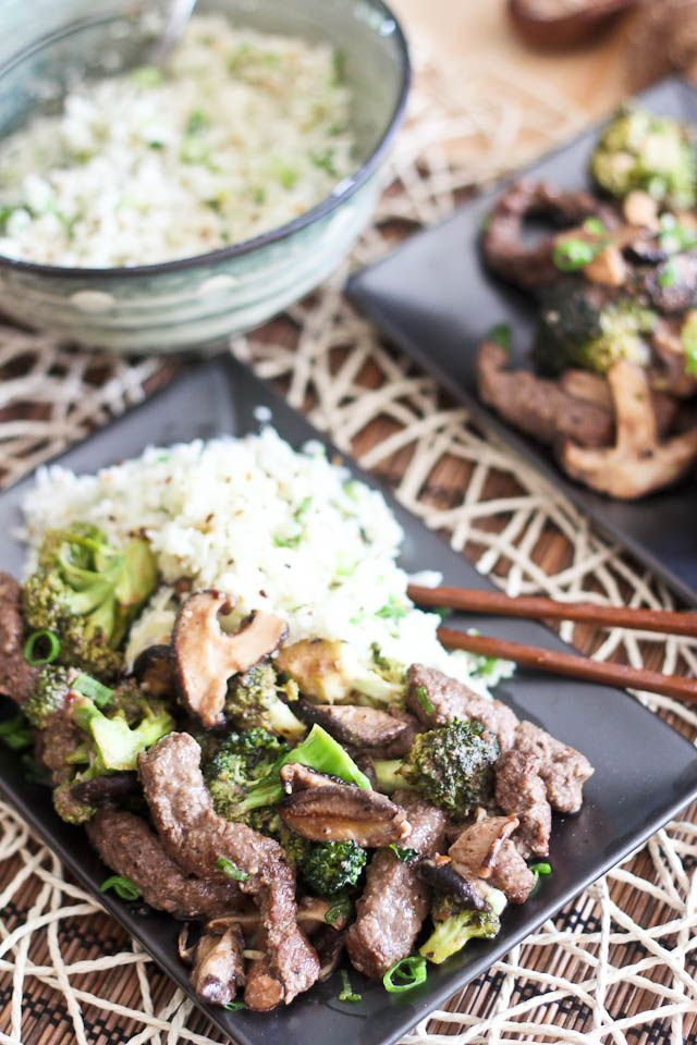 Sauteed Beef with Broccoli and Shiitake Mushrooms (and a side of my ...