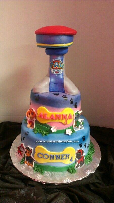 paw patrol birthday party cakes