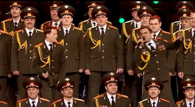 Russian police choir sings quot get lucky quot before sochi opening ceremony