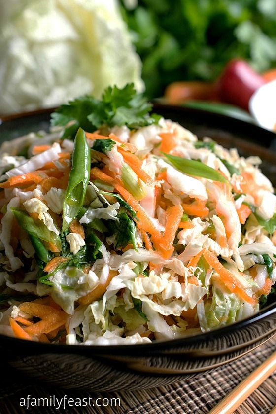 An easy Asian Slaw salad with the most fantastic dressing! This is ...