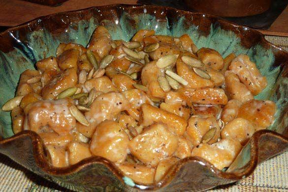 Pumpkin Ricotta Gnocchi with Crème Fraîche