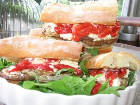 eggplant sandwich | Vegie Recipes | Pinterest