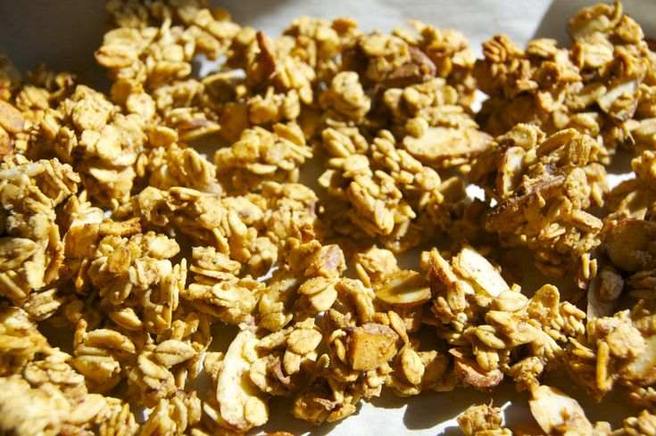 Banana nut granola uses ripe bananas for sweetness and nut butter for ...
